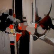 Sans titre – acrylique sur toile  100x100 - HZ 01