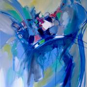 """""""Libre à vous""""- huile sur toile - 100x81--Ref:HZ-149"""
