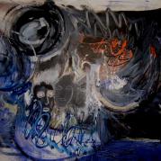 """""""L'insoutenable légèreté de l'être"""" - acrylique sur toile - 162X130 -  Ref:HZ-04"""
