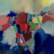 """""""Vue du Ciel"""" - acrylique sur toile - 100x81--- - Ref:HZ-161"""