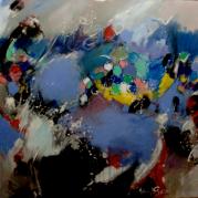 """""""Improbable"""" - acrylique sur toile -162x130 - Ref:HZ-263"""