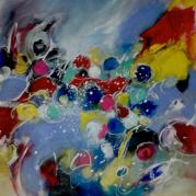 """""""Quelques flocons""""- Acrylique sur toile - 100x81 - Ref:HZ-268"""