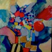 """""""Coupe aux fruits"""" - huile sur toile - 100x81 - HZ-292"""