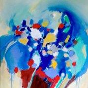 """""""Oser les couleurs"""" - acrylique sur toile 100x81 - HZ 294"""
