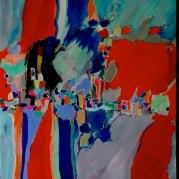 """""""Mille baisers"""" - acrylique sur toile 100x81 - HZ 295"""