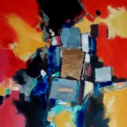 """""""Le rectangle d'or"""" - acrylique sur toile - 100x81 -  Ref:HZ-457"""