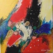 """Opus n 17"" - acrylique s toile 20x20 - HZ 527"