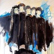 """""""Tenue de soirée II"""" - acrylique sur toile 80x80 - HZ 562"""
